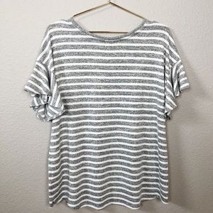 a new day Tops - A New Day Flared Sleeves Striped Top